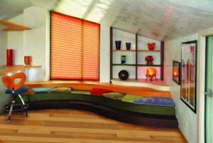 scegliere le tende in un soggiorno su misura